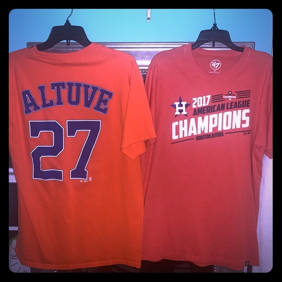 Nike Other - 2 Houston Astros T shirts . 1 Large 1 small men's